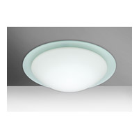 Besa Ring 2 Light Flush Mount in White/Frost Glass 977125C