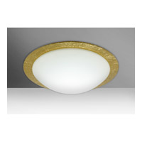 Besa Ring 2 Light Flush Mount in White/Gold Foil Glass 9771GFC