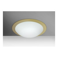 Besa Ring 1 Light Flush Mount in White/Gold Ring Glass 977203C