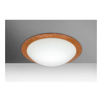 Besa Ring 1 Light Flush Mount in White/Copper Foil Glass 9772CFC