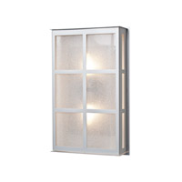 Bree 2 Light 16 inch Brushed Aluminum Outdoor Sconce in Glitter Glass, Incandescent