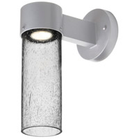 Besa Lighting JUNI10CL-WALL-LED-SL Juni 10 LED 12 inch Silver Outdoor Sconce