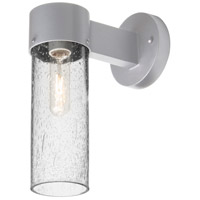 Besa Lighting JUNI10CL-WALL-SL Juni 10 1 Light 12 inch Silver Outdoor Sconce