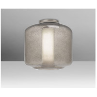 Niles 10 1 Light 10 inch Satin Nickel Semi-Flush Mount Ceiling Light