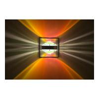 Besa Lighting OPTOS1W-WDWD-BA Optos 1 Light 5 inch Brushed Aluminum Wall Sconce Wall Light in Halogen Warm Dicro Glass