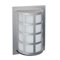 Besa Lighting Scala LED 13 inch Brushed Aluminum Outdoor Sconce in White Acrylic