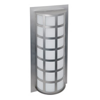 Besa Lighting Scala LED 20 inch Brushed Aluminum Outdoor Sconce in Satin White Glass