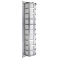 Besa Lighting SCALA28-WA-SL Scala 28 3 Light 27 inch Silver Outdoor Sconce