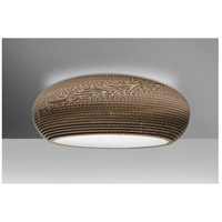 Besa Lighting VENUSC-LED-SN Venus LED 18 inch Satin Nickel Semi-Flush Mount Ceiling Light