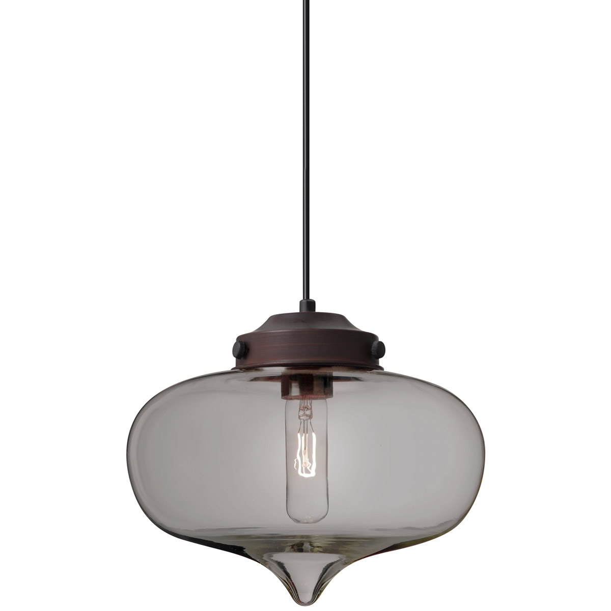 Besa Lighting 1jt Mirasm Br Mira 1 Light Bronze Cord Pendant Ceiling