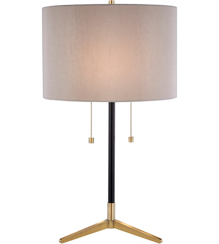 Bethel International JTL123HL-AB JTL123 Series 27 inch 100 watt Antique Brass and Black Table Lamp Portable Light photo thumbnail