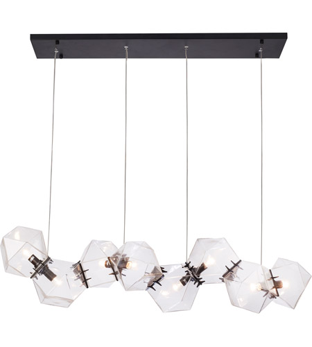 Bethel International Black Glass Pendants