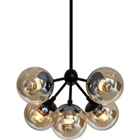 Bethel International DU03-3 Canada 5 Light 17 inch Amber Chandelier Ceiling Light