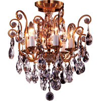 Bethel International BET61X Bet Series 16 inch Chandelier Ceiling Light Gold Frame