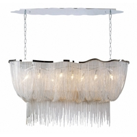 Bethel International HO153C Canada 8 Light 18 inch Silver Pendant Ceiling Light