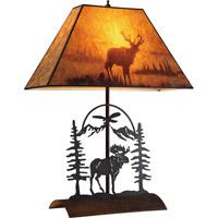 Bethel International RW04 Rw Series Antique Bronze Table Lamp Portable Light Iron Frame