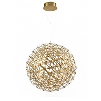 Bethel International MN38GD Canada LED 26 inch Gold Pendant Ceiling Light