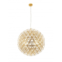 Bethel International MN39GD Canada LED 38 inch Gold Pendant Ceiling Light