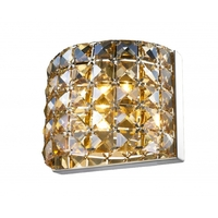 Bethel International GL75GT Canada 1 Light 4 inch Chrome Wall Sconce Wall Light