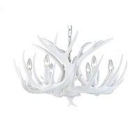 Bethel International IL07WH Canada 6 Light 27 inch White Chandelier Ceiling Light