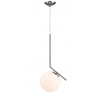 Bethel International DU73SN Canada LED 8 inch Satin Nickel Single Pendant Lighting Ceiling Light