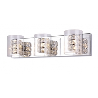 Bethel International ZP50 Canada 1 Light 24 inch Chrome Bathroom Vanity Lighting Wall Light Glass Cover