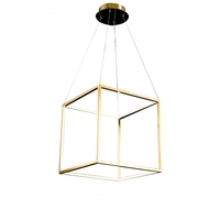 Bethel International NL39 Canada LED 17 inch Gold Pendant Ceiling Light Stainless Steel Gold Frame