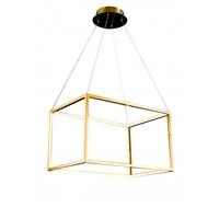 Bethel International NL40 Canada LED 16 inch Gold Pendant Ceiling Light Stainless Steel Gold Frame