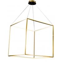 Bethel International NL42 Canada LED 35 inch Gold Pendant Ceiling Light Stainless Steel Gold Frame