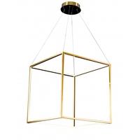 Bethel International NL41 Canada LED 26 inch Gold Pendant Ceiling Light Stainless Steel Gold Frame