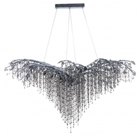 Bethel International Silver Crystal Chandeliers