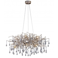 Bethel International AZ07SL AZ07 Series 10 Light 35 inch Silver and Copper Chandelier Ceiling Light