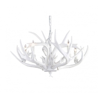 Bethel International IL02-5W Canada 5 Light 38 inch White Chandelier Ceiling Light