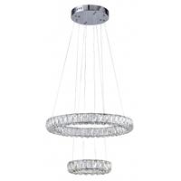 Bethel International KD09 Canada LED 22 inch Chrome Chandelier Ceiling Light