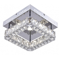 Bethel International KD10-3 Canada LED 12 inch Chrome LED Flush Mount Ceiling Light