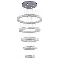 Bethel International KD07-3 Canada LED 31 inch Chrome Chandelier Ceiling Light