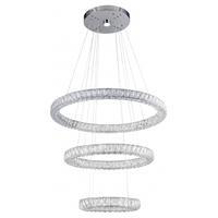 Bethel International KD16-3 Canada LED 32 inch Chrome Chandelier Ceiling Light
