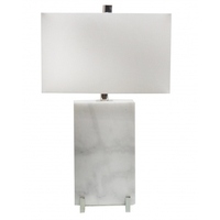 Bethel International JTL42RC-PN Canada 27 inch 100.00 watt White/Polished Nickel Table Lamp Portable Light