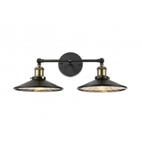 Bethel International DU90 Canada 2 Light 16 inch Black Bathroom Vanity Lighting Wall Light