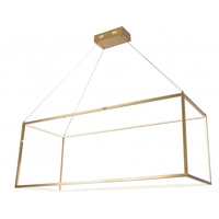 Bethel International TR34 Canada LED 48 inch Gold Linear Pendant Ceiling Light