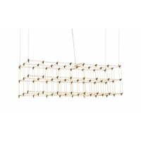 Bethel International Series LED 47 inch Gold Linear Pendant Ceiling Light