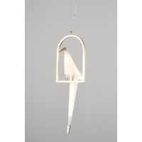 Bethel International BE10 BE10 Series LED 8 inch Gold and White Pendant Ceiling Light photo thumbnail