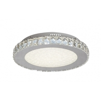 Bethel International FT16 Canada LED 17 inch Clear LED Flush Mount Ceiling Light