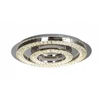 Bethel International FT24 Canada LED 23 inch Clear LED Flush Mount Ceiling Light