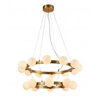Bethel International MU62 Canada 20 Light 32 inch Antique Brass Chandelier Ceiling Light