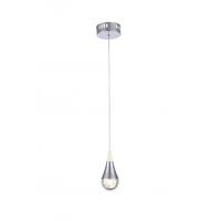 Bethel International TR33 Canada LED 4 inch Chrome LED Single Pendant Lighting Ceiling Light
