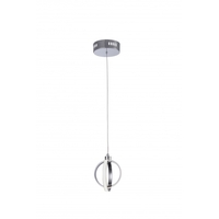 Bethel International TR26 Canada LED 6 inch Chrome LED Single Pendant Lighting Ceiling Light