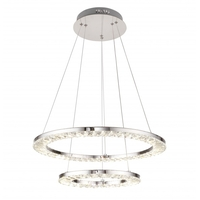Bethel International FT25 Canada LED 20 inch Chrome Pendant Ceiling Light