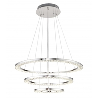Bethel International FT26 Canada LED 28 inch Chrome Pendant Ceiling Light