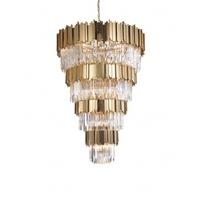 Bethel International MU66 Canada 33 Light 35 inch Gold Chandelier Ceiling Light